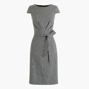 JCrew Gingham Printed Cocktail Dress with Belt